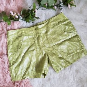 Tommy Bahama Lime Green Linen Shorts
